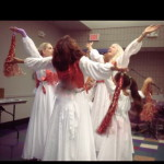 Climax of the dance at Shavuot
