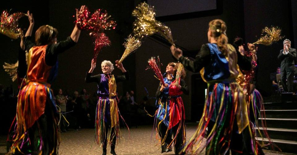 Holiness to the Lord dance team participates with 'Shouts of Joy' dance at the Night to Honor Israel